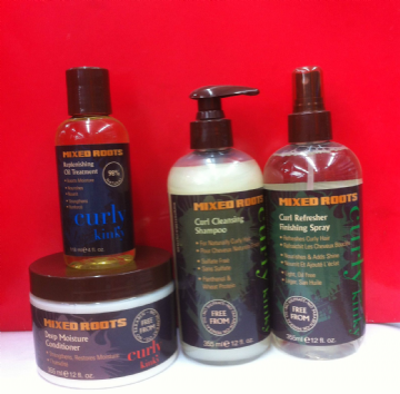 MIXED ROOTS CURLY KINKY HAIRCARE PRODUCTS